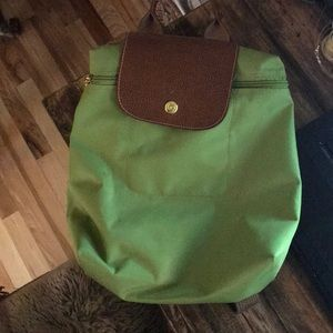 Green Longchamp Backpack